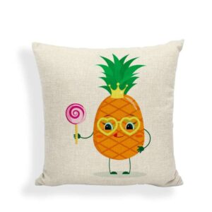 Taie d'oreiller Ananas Reine Bonbon 45×45