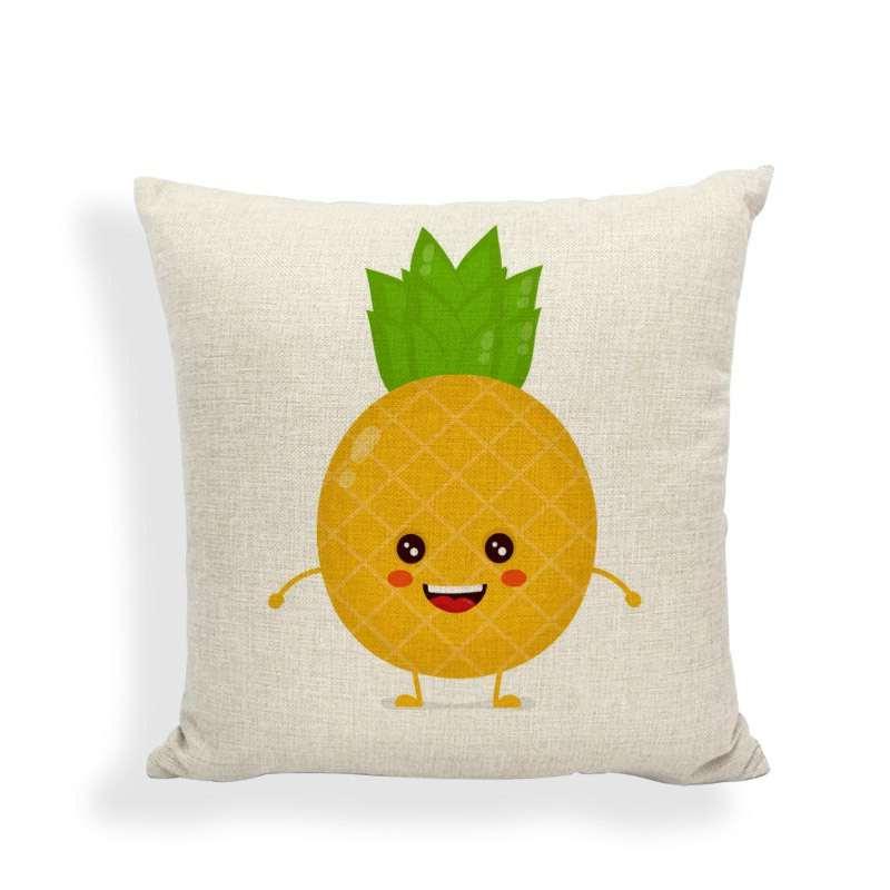 taie oreiller ananas rond mignon style kawaii