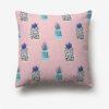 taie d'oreiller ananas rose imprimée de fruit bleu noir et violet