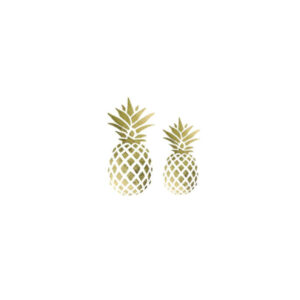 Tatouage Ananas <br>Couple d'Ananas (lot de 10)