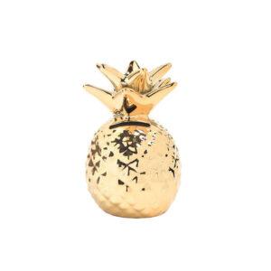 Deco ananas <br>Tirelire dorée