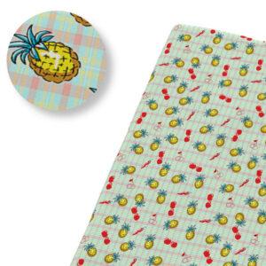 Tissu Ananas à Carreaux