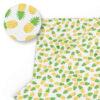 tissu motifs ananas jaune et vert imprimé sur un tissu blanc