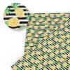 tissu motifs ananas rayures noires