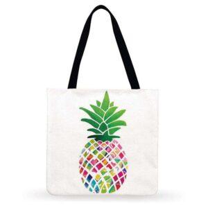 Sac ananas <br>Tote bag coloré moderne