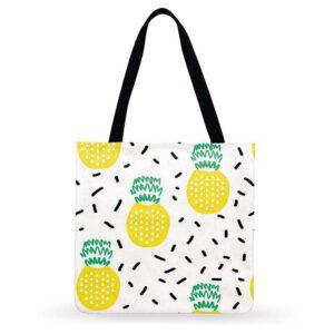 Sac ananas <br>Tote bag dessins fruités