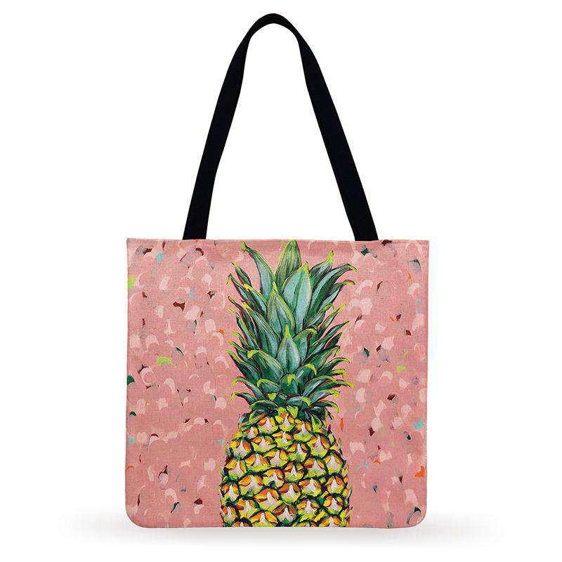 tote bag couleur fête rose avec confettis