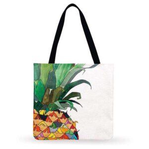 Sac ananas <br>Tote bag fruit coloré