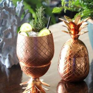 Verres Ananas à Cocktail Cuivre (500 ml)