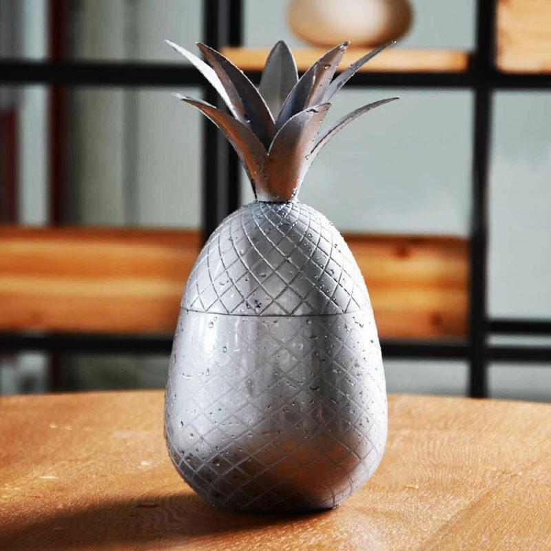 verre à cocktail ananas en métal inox