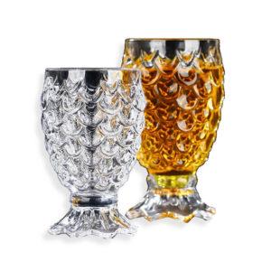 verre en cristal en forme d'ananas