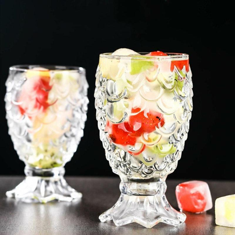 verre cocktail en cristal en forme d'ananas