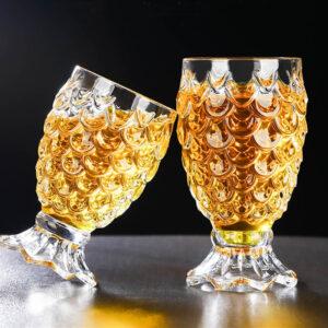 Verre Ananas Cristal (lot de 2)