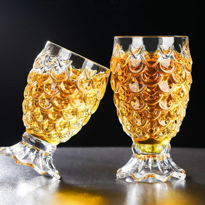 verre crystal forme ananas